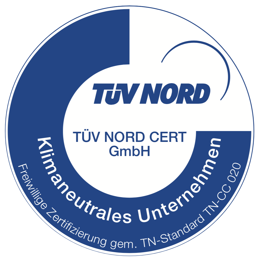 TüV Nord Cert - Seal Carbon Neutral Company